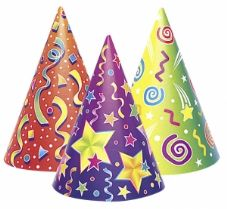 6 Kaleidoscope Kids Party Hats